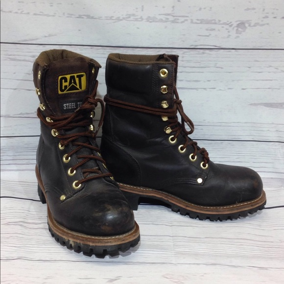 Caterpillar Shoes Steel Toe Work Logger Boots Size 75 Poshmark